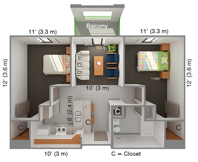 IHouse 2 Bed
