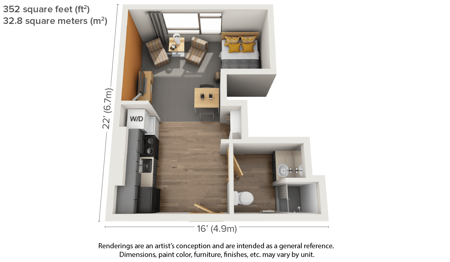 One Bedroom Apartment Furniture Layout