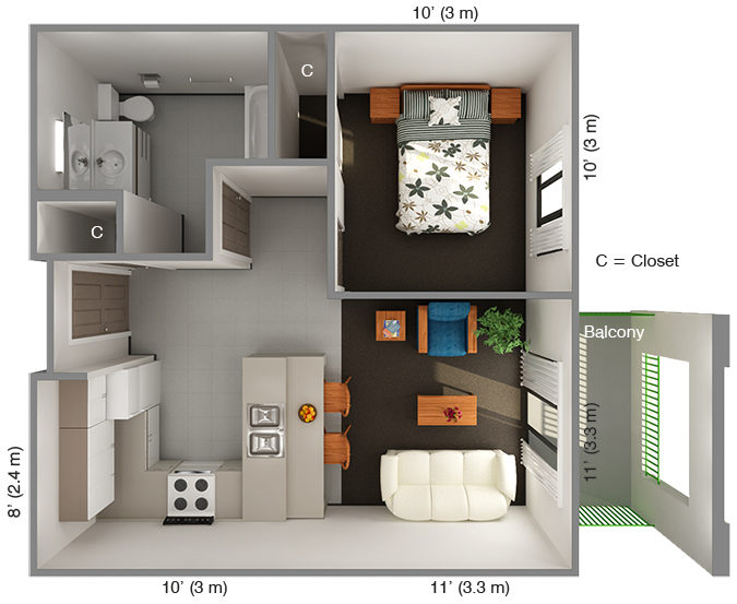 IHouse 1 Bedroom