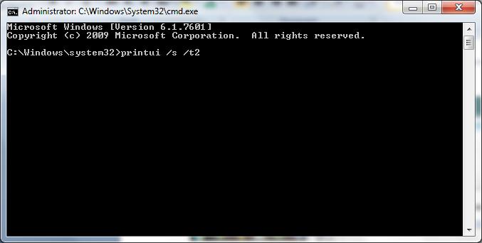 administrator command prompt window screenshot