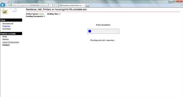 Web installation install screenshot