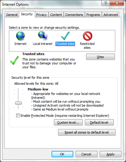 Web Installation Security Level screenshot