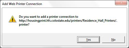 Web installation add web printer screenshot
