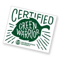 Certified Green Warrior Sticker