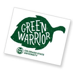 Green Warrior Sticker