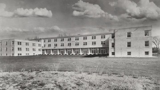Rockwell was one of the original residence halls on campus, and is now home to the College of Business, c. 1941