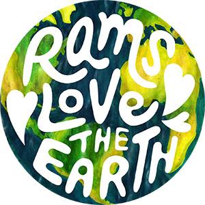 Rams heart Earth Sticker