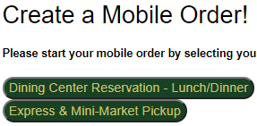 Start your mobile order